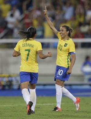 Marta Brasil x  Suecia futebol feminino (Foto: AP)