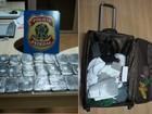 Homem é preso com 7 kg de haxixe na mala, em Foz do Iguaçu, diz polícia