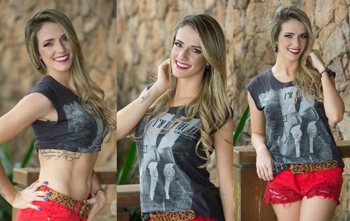 Ginasta Natália Gaudio se arrisca como modelo (Foto: Cacá Lima)