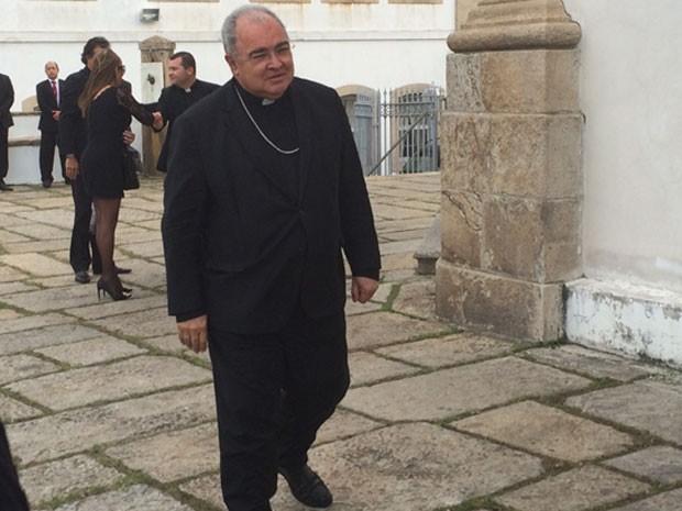 Dom Orani esteve no Outeiro da Glória (Foto: Marcelo Elizardo / G1)