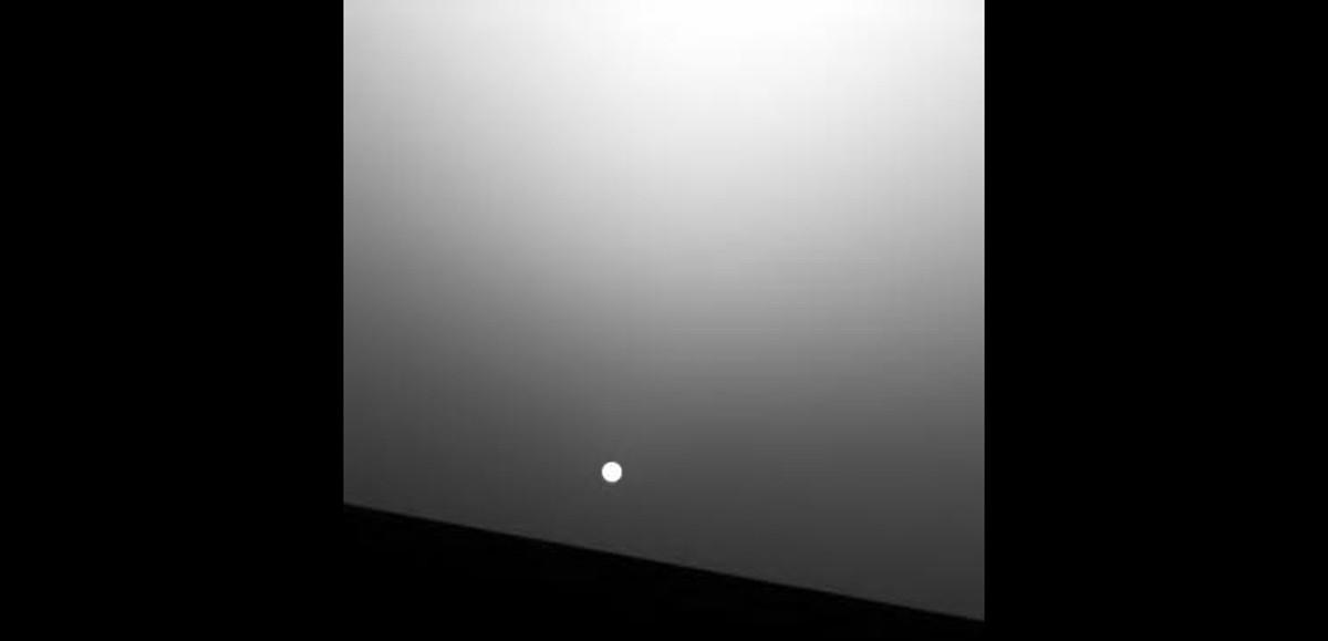 O pôr do sol em Marte (Foto: Divulgação/Nasa)