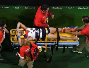 Samir Ait Said perna quebrada lesão ginástica Olimpíada Rio (Foto: Antonin Thuillier / AFP)