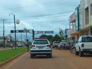 Número de policiais nas ruas de Vilhena, RO, foi aumentado em 30%, segundo coronel da PM (Foto: Jonatas Boni/G1)