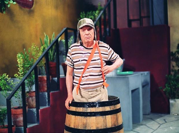 Roberto Bolaños caracterizado como o personagem Chaves (Foto: Divulgação SBT)