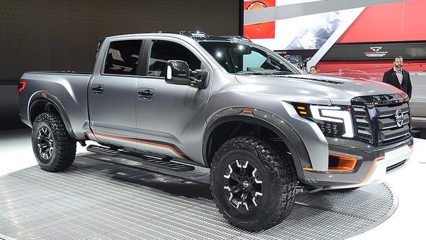 Nissan 5.0 Cummins >> Nissan revela picape conceito TITAN Warrior no Salão de Detroit - AUTO ESPORTE | Notícias
