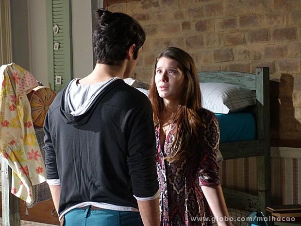 Antônio diz para Bruna que não gosta mais dela e termina tudo (Foto: Malhação / TV Globo)