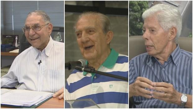Milton Cordeiro, Phelippe Daou e Joaquim Margarido são os fundadores da Rede Amazônica (Foto: Rede Amazônica)