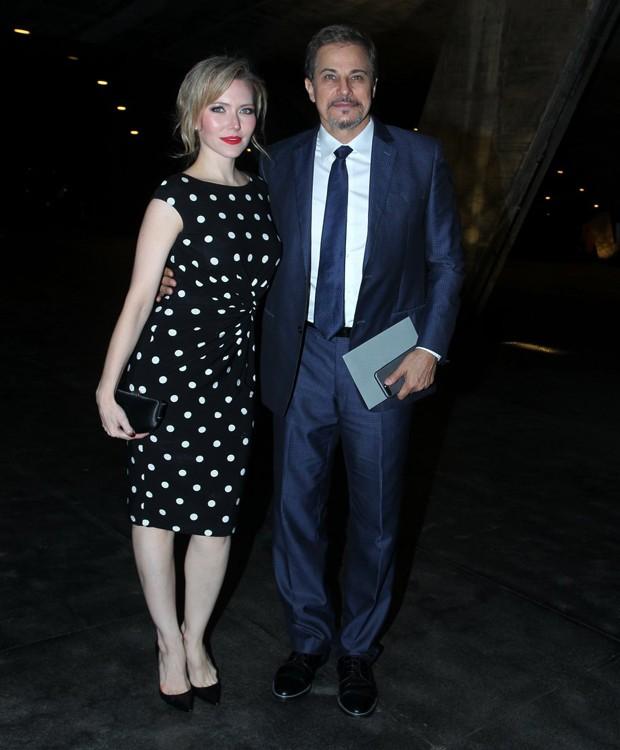 Karen Roepke e Edson Celulari (Foto: Marcello Sá Barretto/AgNews)