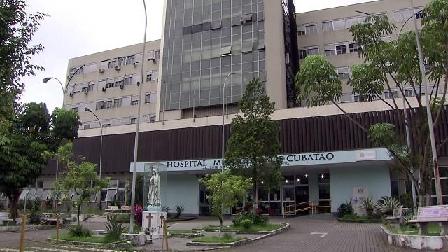Hospital Municipal de Cubatão não está recebendo pacientes (Foto: Reprodução/TV Tribuna)