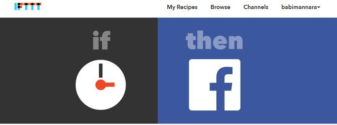 Veja as melhores ações IFTTT no Facebook (Foto: Reprodução/Barbara Mannara)