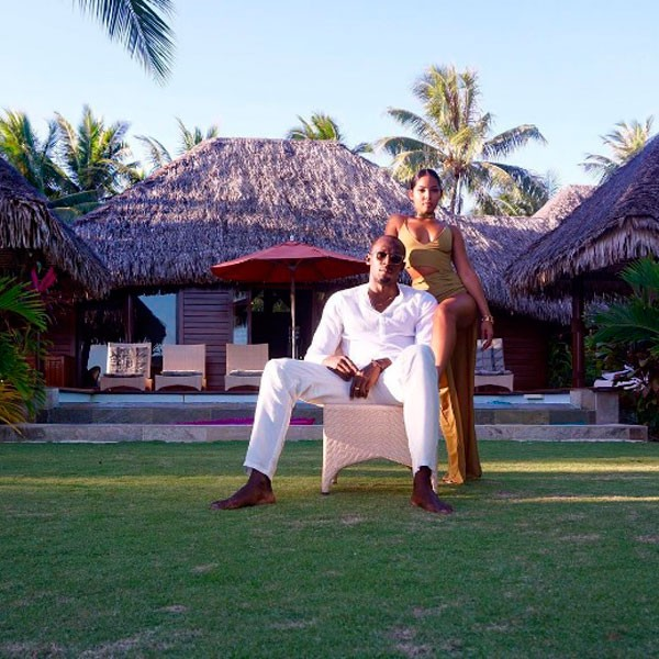 Usain Bolt e Kasi Bennett: férias em Bora Bora (Foto: Instagram)