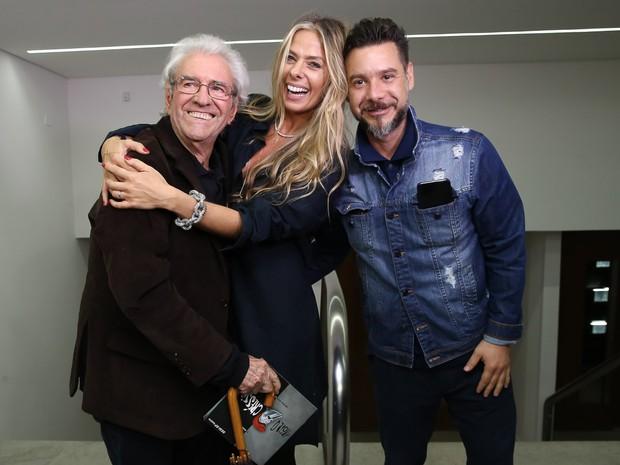 Juca de Oliveira, Adriane Galisteu e Alexandre Iódice em estreia de peça em São Paulo (Foto: Manuela Scarpa/ Brazil News)