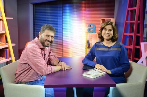 Pedro Doria dá entrevista a Leila Richers (Foto: Divulgação)