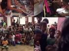 Dani Suzuki entrega material escolar em comunidade carente