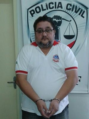 Cláudio Barcelos foi preso nesta segunda-feira (15), em São Luís (Foto: Divulgação / Polícia Civil)