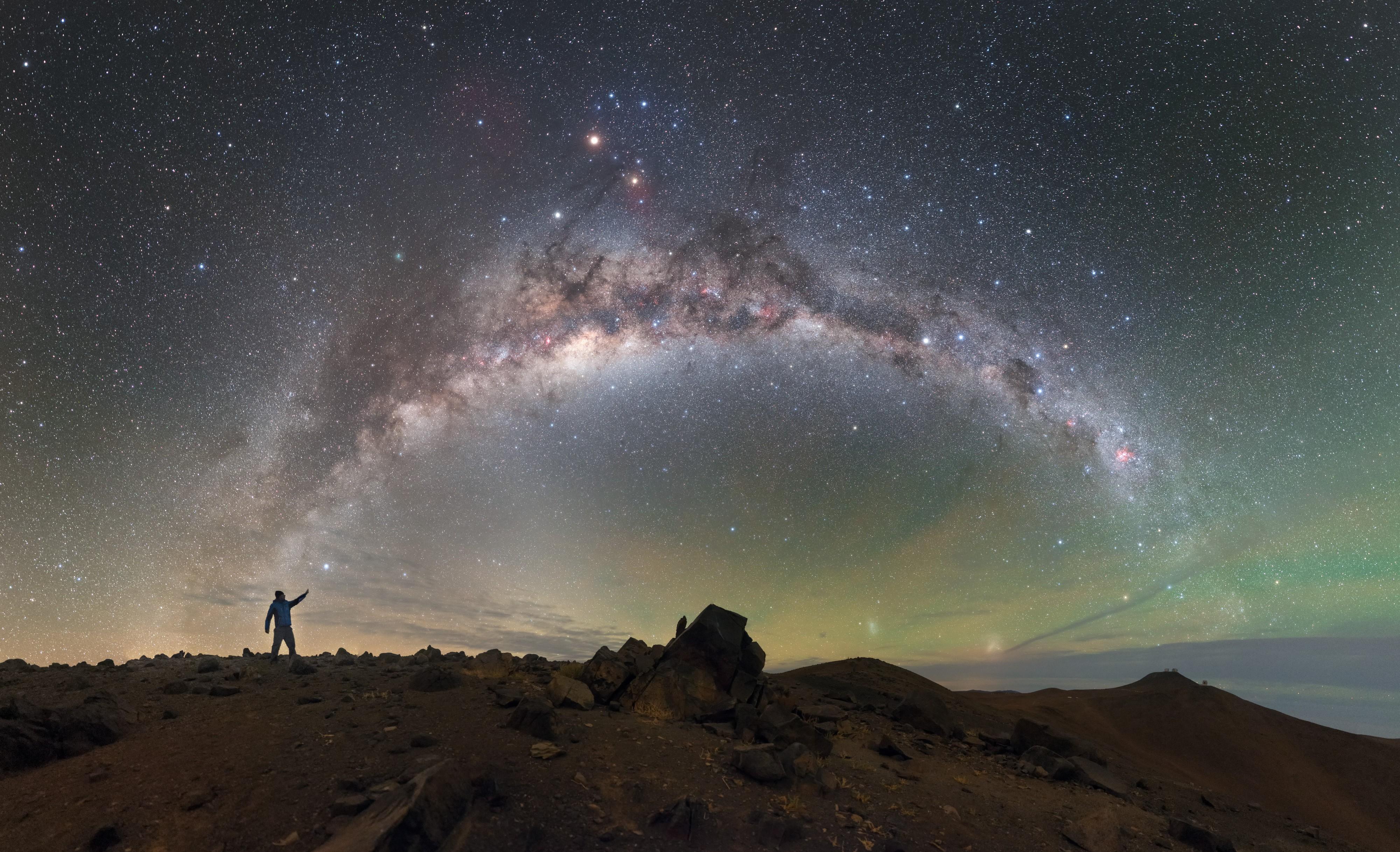 Petr Horálek fotografou o céu do Observatório Paranal e recebeu uma menção honrosa (Foto: Petr Horálek  / Divulgação)