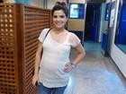 Grávida de 8 meses, Vanessa Giácomo visita 'Império' e fala de Marjorie e Drica