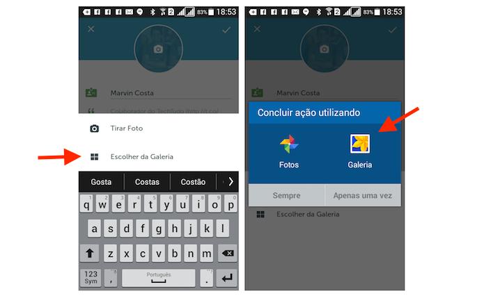 Seguindo até a biblioteca do Android para escolher uma imagem de perfil no Periscope (Foto: Reprodução/Marvin Costa)