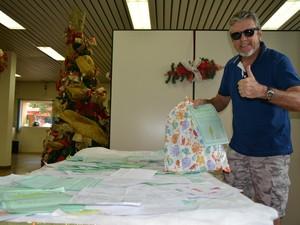 Manoel Cordeiro participa pela primeira vez da campanha, e promete retornar ano que vem (Foto: Mary Porfiro/G1)