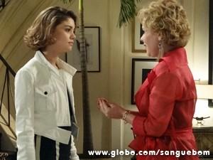 Mas a it-girl não curte a ideia (Foto: Sangue Bom/TV Globo)