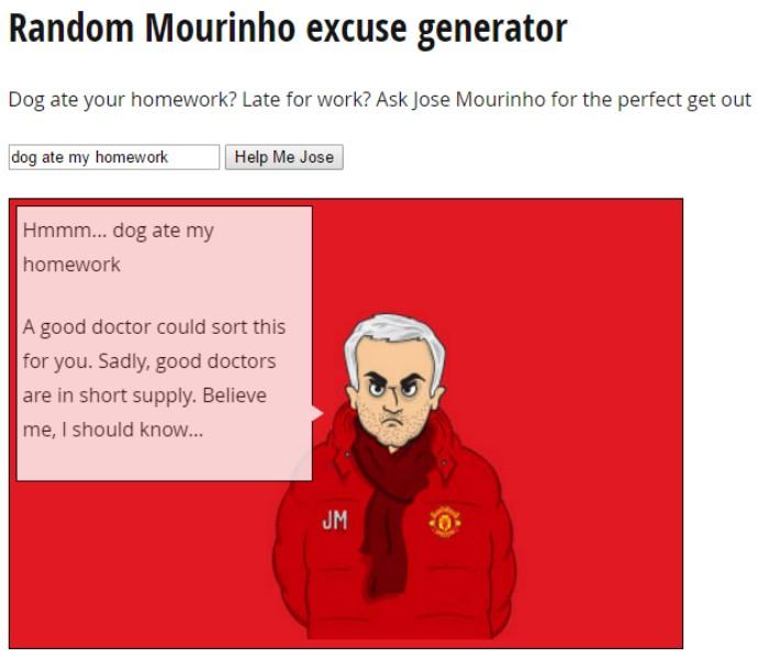 """BLOG: Jornal brinca com """"desculpas"""" dadas por Mourinho em derrotas do United"""