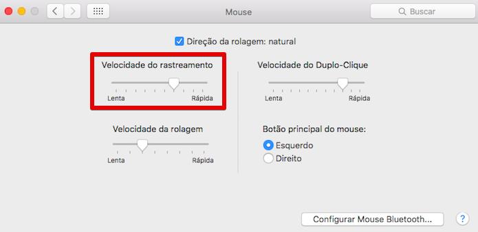 Alterando a velocidade do cursor do mouse (Foto: Reprodução/Helito Bijora)