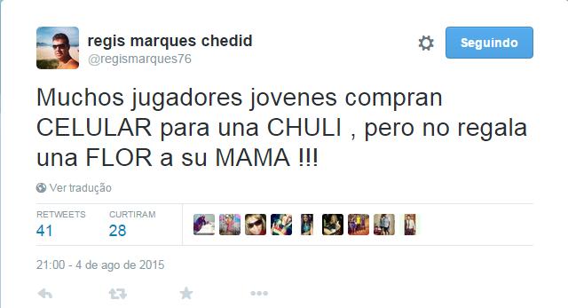regis marques twitter (Foto: Reprodução / Twitter)