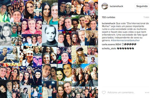 Luciano Huck em post no Instagram (Foto: Reprodução / Instagram)