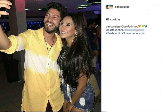 Fã-clube de Luiz Felipe mostra foto do ex-brother com affair alagoana (Foto: Reprodução da Internet / Instagram @pandalulipe)
