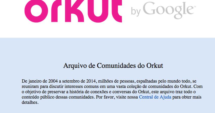 Google libera histórico público do Orkut com 51 milhões de ...