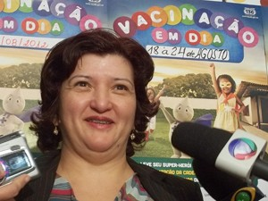Diretora da Vigilância Epidemiológica, Sônia Geraldes (Foto: Felipe Néri/ G1)