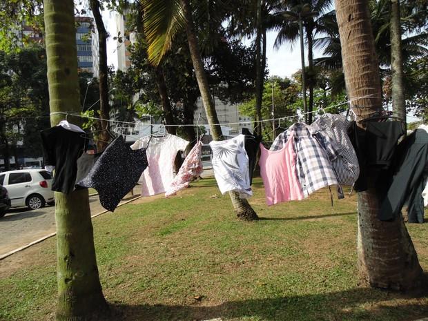 Peças femininas foram maiorias na loja de São Vicente (Foto: Jane Pangardi / Arquivo Pessoal)