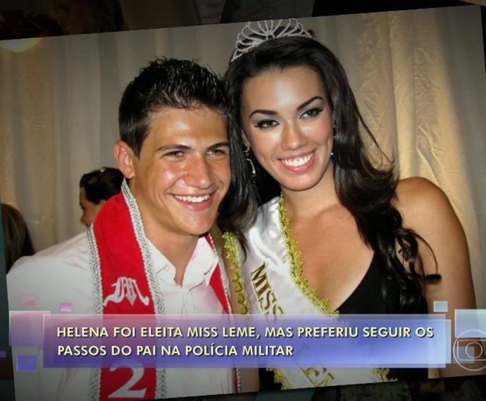 Jovem foi eleita em concurso de beleza (Foto: TV Globo)