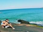 'Paraíso com o meu amor', derrete-se Giulia Costa em foto com Eike Duarte
