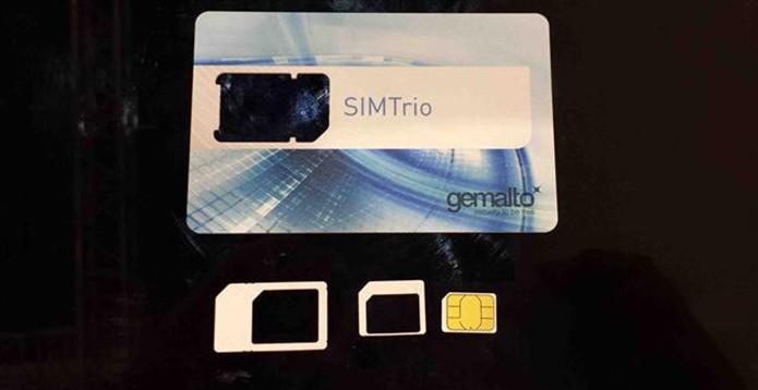 SIMtrio promete acabar com preocupação sobre o tamanho dos chips para celulares (Foto: Reprodução/Mobile Time)