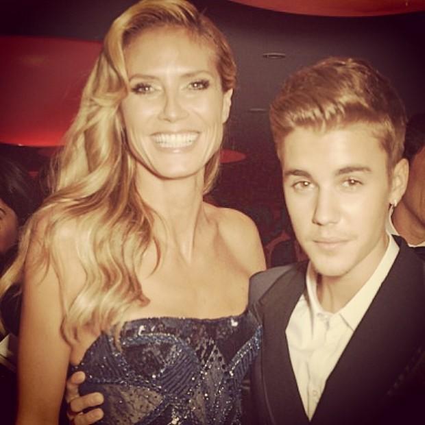 Heidi Klum e Justin Bieber (Foto: Instagram/Reprodução)