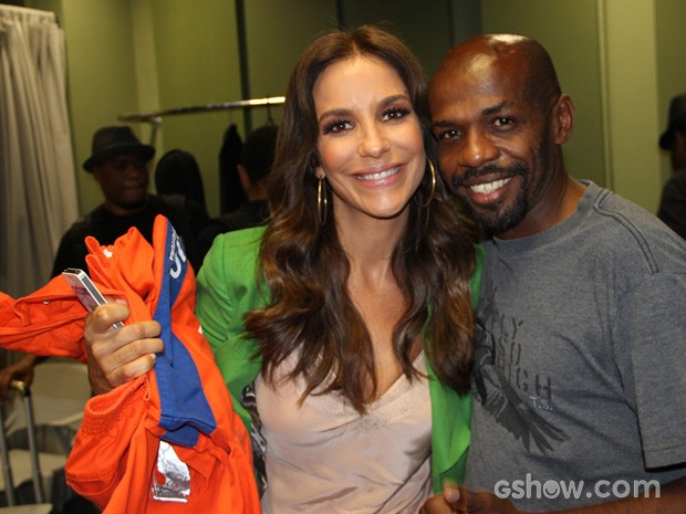 Sorriso e Ivete Sangalo (Foto: Altas Horas / TV Globo)