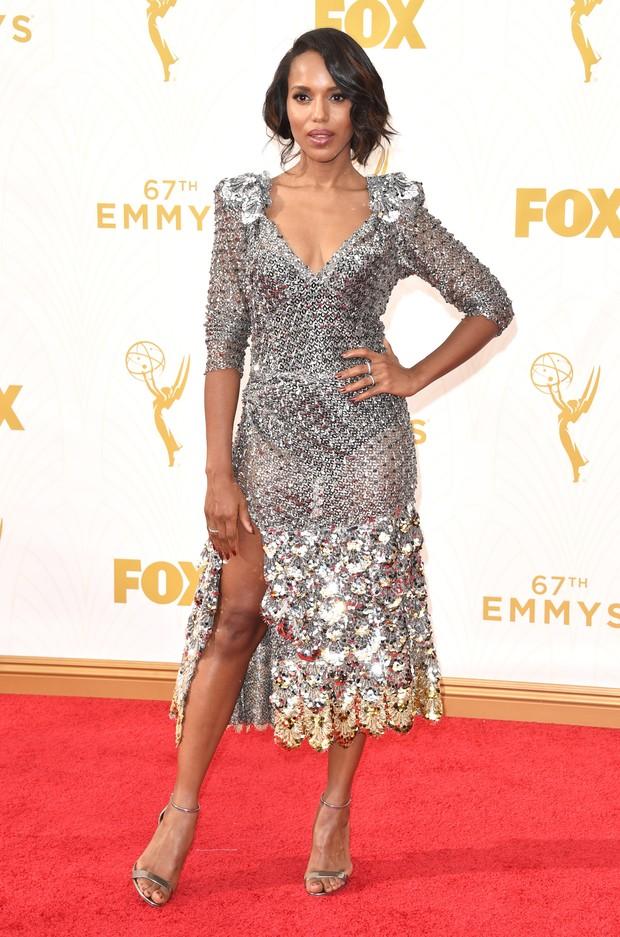 Kerry Washington no Emmy Awards (Foto: Getty Images)