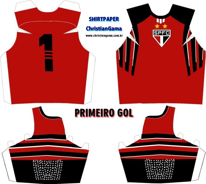 (NÃO USAR) Camisa Rogério Ceni primeiro gol (Foto: GloboEsporte.com)