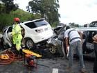 Acidente envolvendo dois veículos deixa feridos em distrito de Carandaí