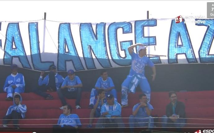 torcedor londrina série C brasileiro macaco esporte interativo (Foto: Frame/Esporte Interativo)
