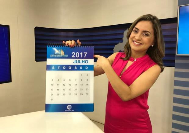 Aline Moreira diz que problema resolvido no 'Calendário' é uma satisfação para o 'PITV 1ª Edição' (Foto: TV Clube)