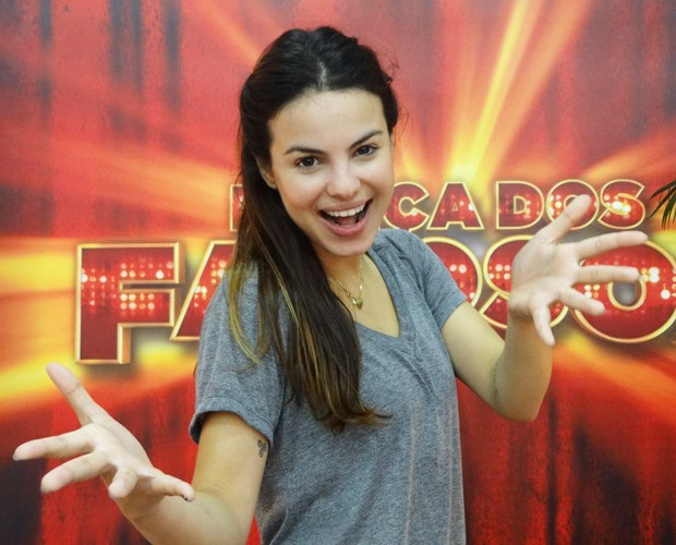 Sthefany Brito herdou a energia da m&#227;e (Foto: Doming&#227;o do Faust&#227;o / TV Globo)