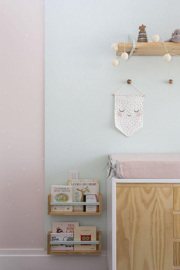 Décor do dia: quarto de bebê feminino em tons pastel (Foto: Thiago Travesso)