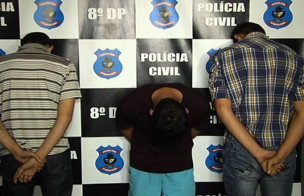 Polícia prende um e apreende dois suspeitos de fazer arrastões em Goiânia Goiás 2 (Foto: Reprodução/TV Anhanguera)