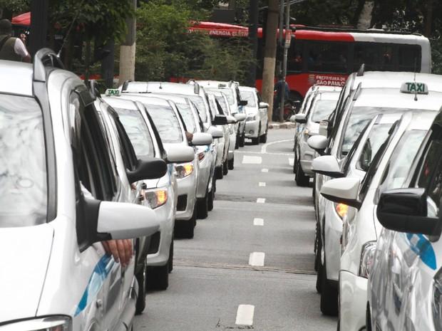 SP protesto taxistas  (Foto: Fábio Vieira/Código19/Estadão Conteúdo)