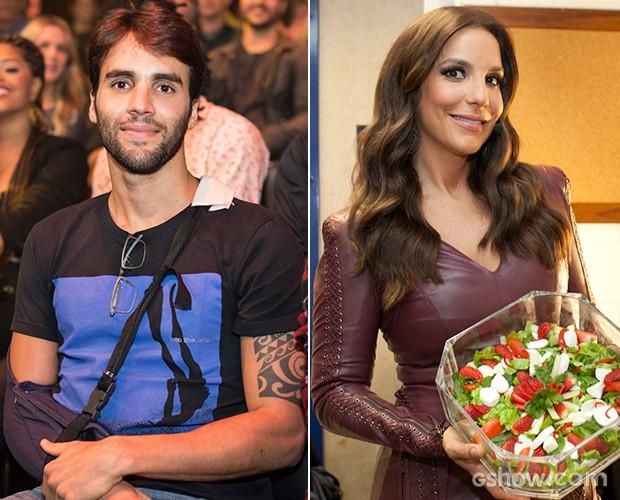Daniel Cady, marido de Ivete Sangalo, ensina a receita preferida da cantora, a Salada da Mama (Foto: Camila Serejo/TV Globo / Dafne Bastos/ TV Globo)