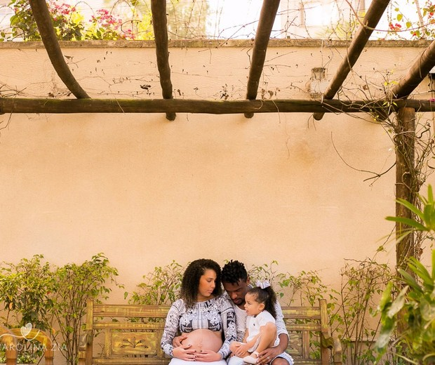 Bárbara, Valentina e o marido (Foto: Arquivo pessoal)