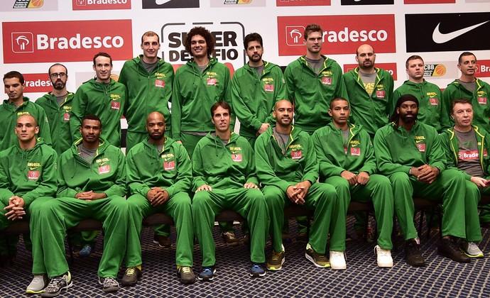 Seleção brasileira basquete São Paulo (Foto: Gaspar Nobrega/Inovafoto)