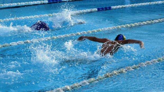 Campeonato sergipano abriu a temporada 2012 da natação sergipana (Foto: Felipe Martins/GLOBOESPORTE.COM)